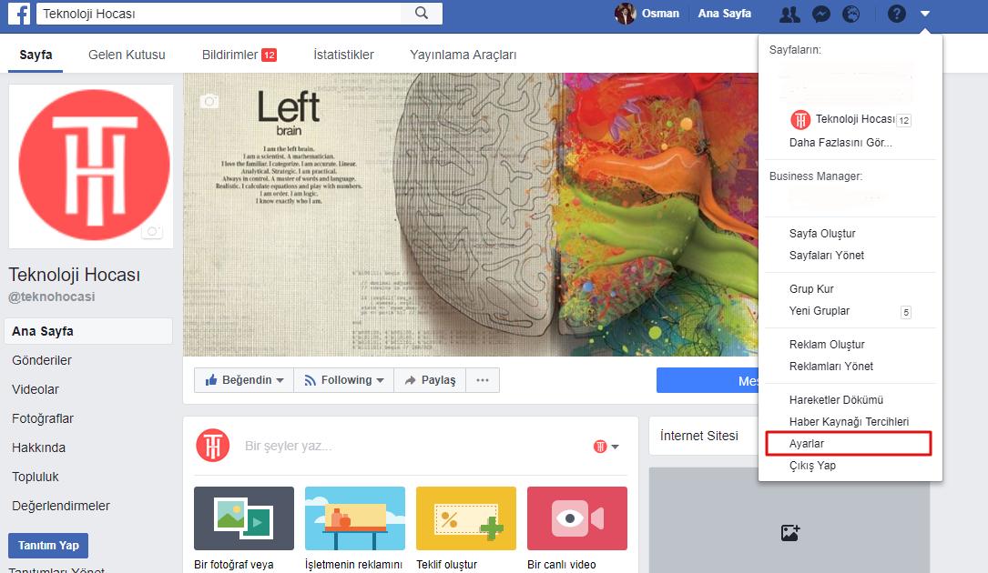 Facebook Hesabı Silme
